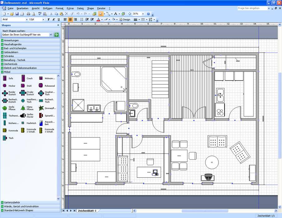 Aplikasi Teknik Sipil Visio Drawing