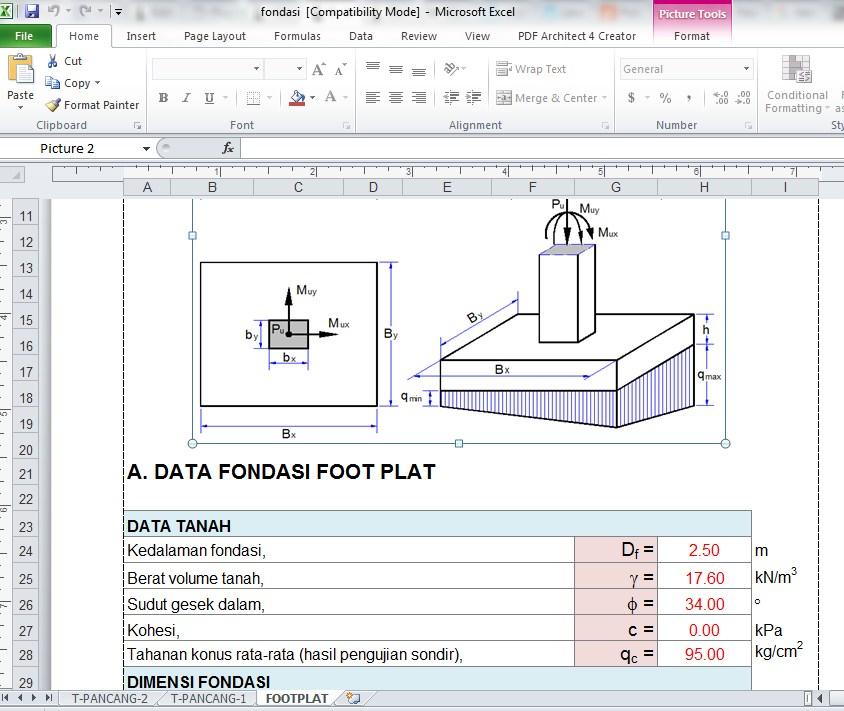 Perencanaan Pondasi Dengan Excel