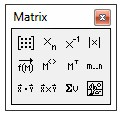 Fasilitas Mathcad Matrix