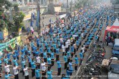 Latgab Hikmatul Iman Bandung Raya di Depan Bandung Indah Plaza