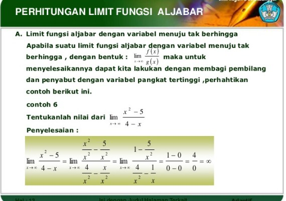 Rumus The King Limit Fungsi Aljabar – Part 1
