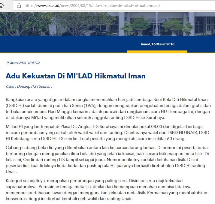 Adu Kekuatan Di MI'LAD Hikmatul Iman Surabaya